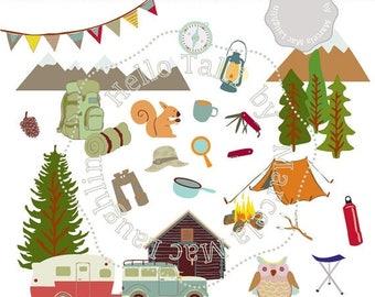 Camper clipart | Etsy