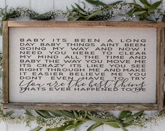 You Are The Best Thing // 9 x 17 Handmade Sign