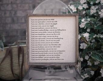 My I Love You  // 13x13 Handmade Sign