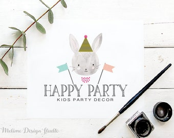 Party Logo Design, Pre-made Logo, Party supplies Logo and Branding, Kids Logo, Party Logo (A35)