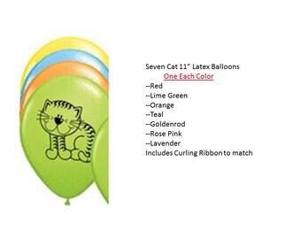 Cat Balloons, Kitten Balloons, Kitty Balloons