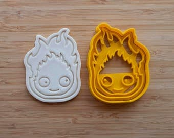 Calcifer cookie cutter.  Studio Ghibli Gift. Howls Moving Castle