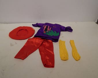 Hot Looks Doll Fashion Big T and Pants 3817 by Mattel 1986