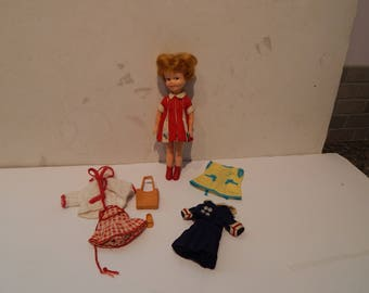 Vintage Penny Brite Doll With Sun and Fun 1562, Beauty Parlor 1031, Anchors Aweigh 1538 and Boots from Singing in the Rain 1960s