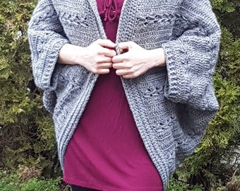 So Versatile Cable Coccoon Shrug Pattern