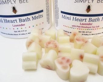 Mini Heart Bath Melts, Bath Truffles, Bath Butters - You Choose Scent