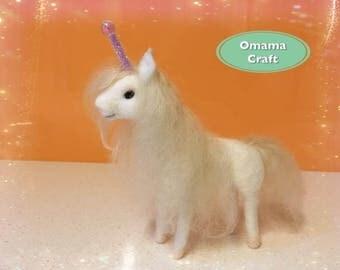 Needle Felt Sculptures - Unicorn