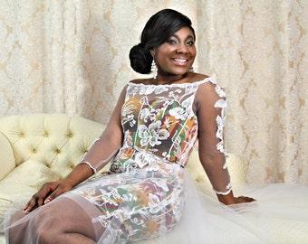 Detachable Kente Bespoke Wedding Dress