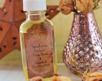 Speakeasy, Patchouli, Ylang ylang and grapefruit Oil Roll on Perfume, Summer scent