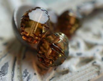 Amber Bliss, Bicones, Czech Beads, Beads, N1642