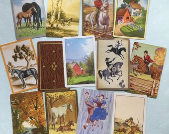 Vintage Playing Cards- On The Farm