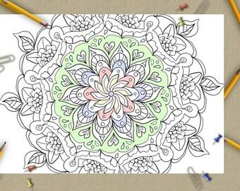 Om pagina da colorare per adulti libro da colorare mandala zen - San patrizio per i bambini ...