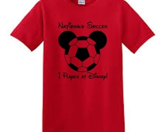 Disney Soccer Shirt - Disney Mickey Soccer Tshirt - Custom Disney Wide World of Sports Nationals Competition Shirts Customized/Adult/Youth