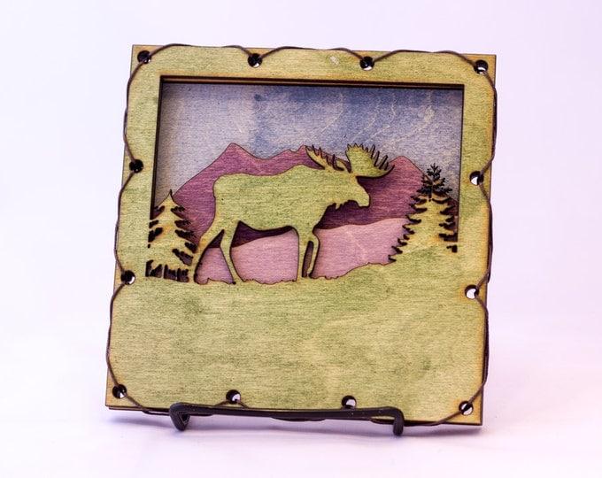 Moose Art - Moose Home Decor -  Rustic Mountain Decor - Mountain Decorating Idea- Mountain Wall Art - Moose  Decor - Moose in the House