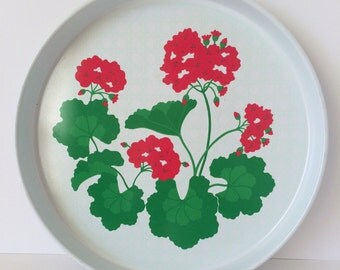 Geranium Serving Tray, Serving Tray, Tray, Avon, Geranium, Garden, Gardening, Gardening Gifts, Gufts for Her, Mothers Day Gifts, Flower