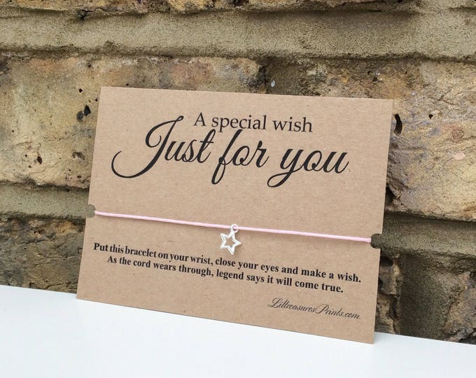 A special wish just for you Wish Bracelet | Birthday Gift | Charm Bracelet & Card. Can be personalised.