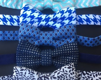 SALE Blue bow ties. Blue baby bowties