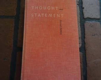 1960 Thought And Statement Second Edition By William Leary & James Smith