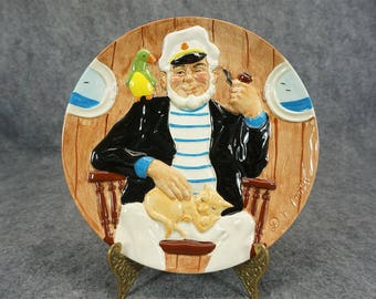 Davenport Pottery Co Collectors Plate Of Jack Tar By Douglas V Tootle C. 1985