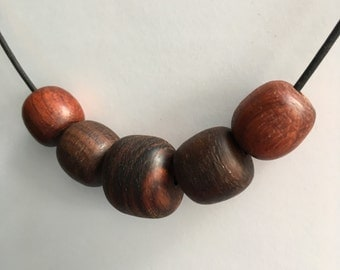 Handmade Wooden Beads, Nature's Jewelry, Reclaimed Wood, Eco Jewelry