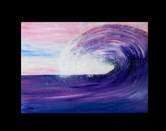 Table abstract 65 x 50 cm art modern giant wave ocean