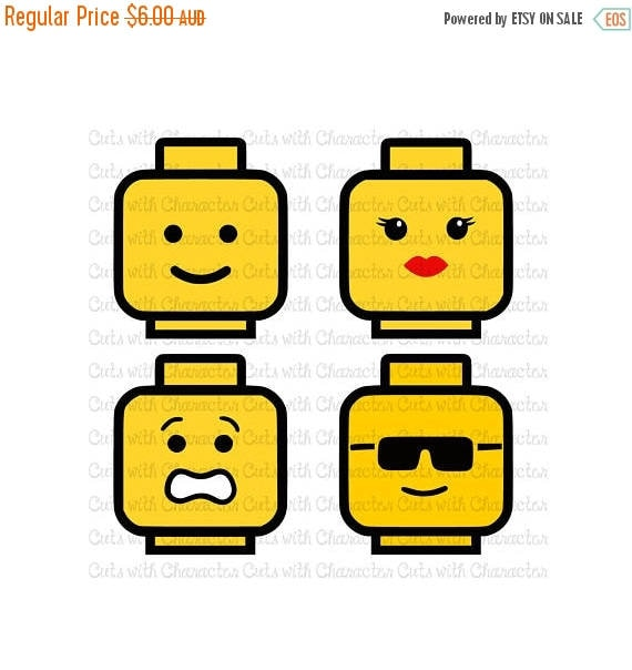 Download ON SALE Lego Heads layered svg pack SVG Dxf and Png Files for