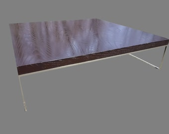 Vintage Calder Ebony and Chrome Coffee Table By Minotti.  PRICE CUT!