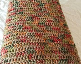 Hand Made Crochet Blanket Afghan Multi Color