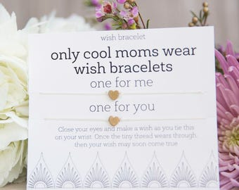 Only Cool Moms Wish Bracelet, Easy Gift for Mom, Sassy Mother's Day Present, World's Best Mom, Birthady gift for mom, Happy Mother's Day
