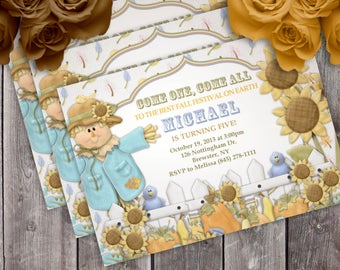Harvest Delights Birthday Party Invitation