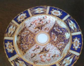 Victorian Imari pattern cake plate