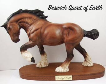 "Rare Beswick Horse ""Spirit of Earth"" 2914 Matt"