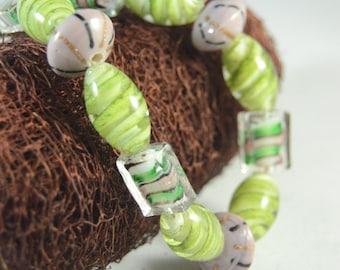 Green Glass Bracelet