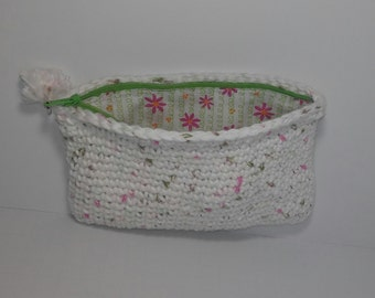 small crochetted pouch