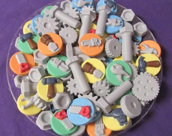 Gears & Tools chocolates candy tray