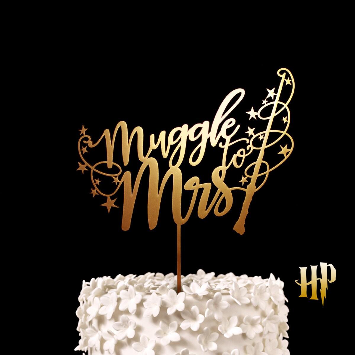 Muggle To Mrs Wedding Cake Topper Keepsake Wedding Cake