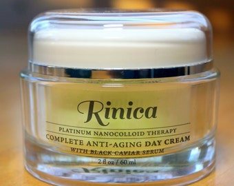 Black Caviar Serum Natural Anti-Aging / Anti-Wrinkle Day Face Cream with Platinum by Rinica