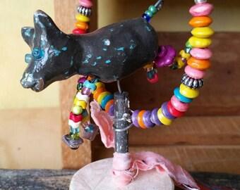 Circus dog. Art doll.  Ooak