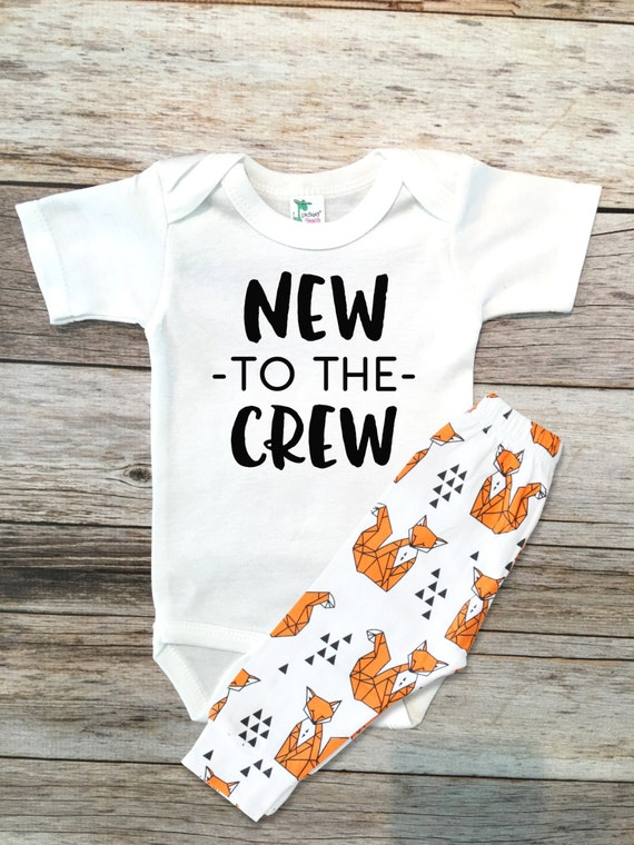 Baby Boy Clothes New To The Crew New Baby Gift Going Home