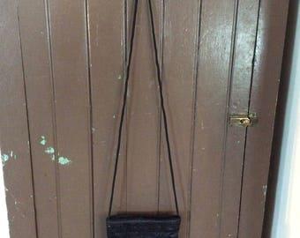 Black beaded evening bag