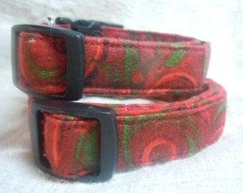 Sale Dog Collar / Red Dog Collar / Small Dog Collar / On Sale Dog Collars / Soft Dog Collar / Gift for Dog