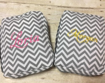 Personalized Chevron Bible Cover , Monogram Canvas Bible Case, Embroidered Bible Cover, Personalized Bible Case, Easter Gift.