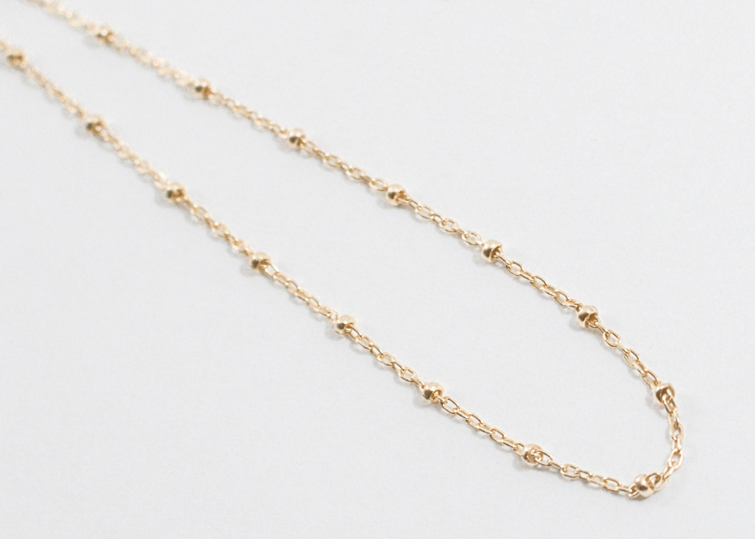 dainty delicate simple ore gold chain en bracelet beaded bracelets fill