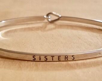 Silver Sisters Bangle