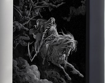 Canvas 24x36; Death On A Pale Horse By Gustave Dore 1865