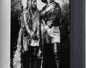 Canvas 24x36; Sitting Bull And Buffalo Bill (1895