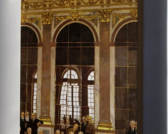Canvas 24x36; Treaty Of Versailles Signing In The Hall Of Mirrors