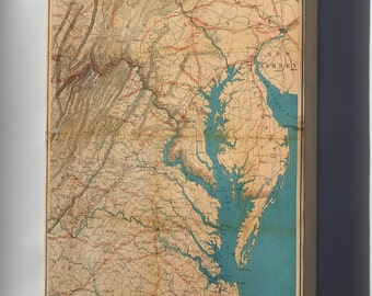 Canvas 16x24; Map Of Eastern Virginia, 1862