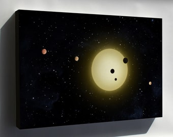 Canvas 16x24; Kepler-11 Planetary System, With At Least 6 Planets In Short Orbits