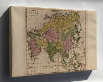 Canvas 16x24; Map Of Asia 1814 P2